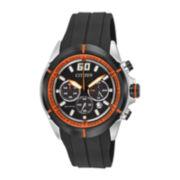 Drive from Citizen® Eco-Drive® Mens Silicone Strap Chronograph Watch CA4108-04E