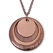 Liz Claiborne® Bronze-Tone Orbital Pendant