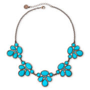 Liz Claiborne® Bronze-Tone Blue Collar Necklace