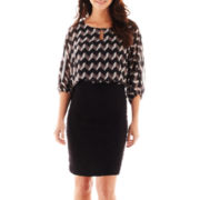 Danny & Nicole® 3/4-Sleeve Blouson Dress