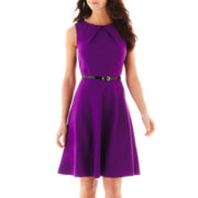 Alyx® Sleeveless Belted Fit-and-Flare Dress