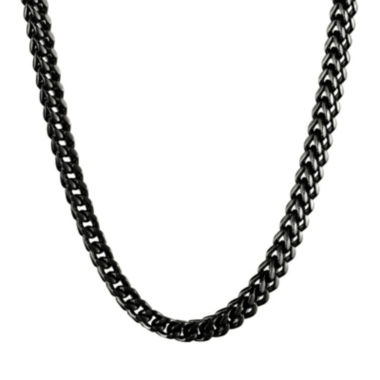 jcpenney.com | Mens Stainless Steel & Black IP Foxtail Chain