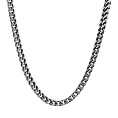 jcpenney.com | Mens Antique Finish Stainless Steel & Black IP Foxtail Chain