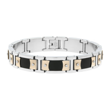 jcpenney.com | Mens Stainless Steel & Rose-Tone IP Link Bracelet