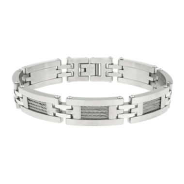 jcpenney.com | Mens Stainless Steel Cable Link Bracelet