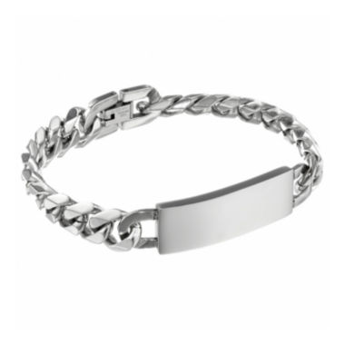 jcpenney.com | Mens 12mm Stainless Steel Curb ID Bracelet