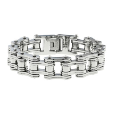 jcpenney.com | Mens Stainless Steel Motorcycle Bracelet