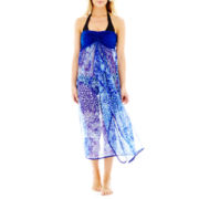 Raviya® Strapless Tie-Dyed Cover-Up Maxi Dress