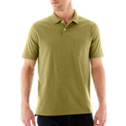 St. John's Bay® Heathered Jersey Polo
