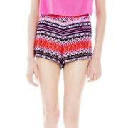 L'Amour by Nanette Lepore Pleated Elastic-Yoke Soft Shorts