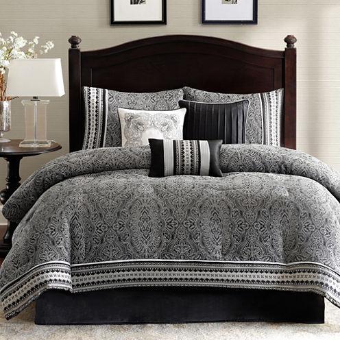 Madison Park Denton 7-pc. Jacquard Comforter Set