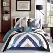 Madison Park Midland 7-pc. Chevron Comforter Set