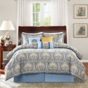 Madison Park Flora 7-pc. Paisley Comforter Set