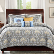 Madison Park Flora 6-pc. Floral Duvet Cover Set
