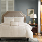 Madison Park Nia 4-pc. Pintucked Duvet Cover Set