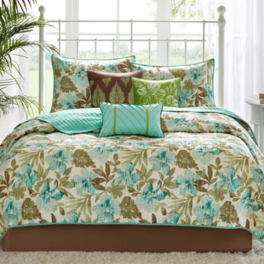 jcpenney.com | Madison Park Barbados 6-pc. Quilted Coverlet Set