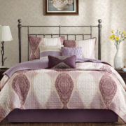 Madison Park Lizette 6-pc. Quilted Coverlet Set