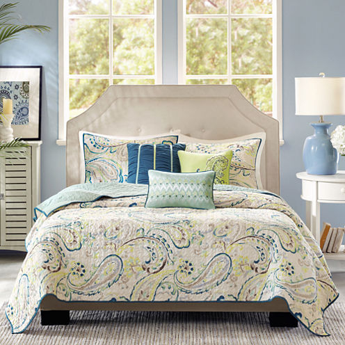 Madison Park Camilla 6 Pc Quilted Coverlet Set