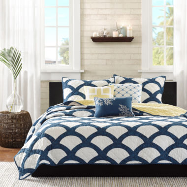 jcpenney.com | Madison Park Montego 6-pc. Quilted Coverlet Set