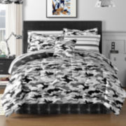 Cadet Black Camo Complete Bedding Set with Sheets and Accessories