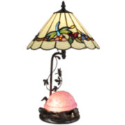 Dale Tiffany Dragonfly and Pink Turtle Table Lamp and Nightlight