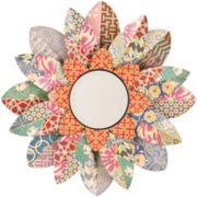 Colorful Floral Round Wall Mirror