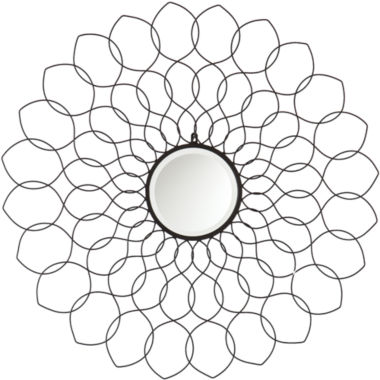 jcpenney.com | Jordana Black Beveled Round Wall Mirror