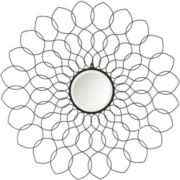 Jordana Black Beveled Round Wall Mirror