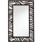 Daintree Animal Print Wall Mirror – Zebra