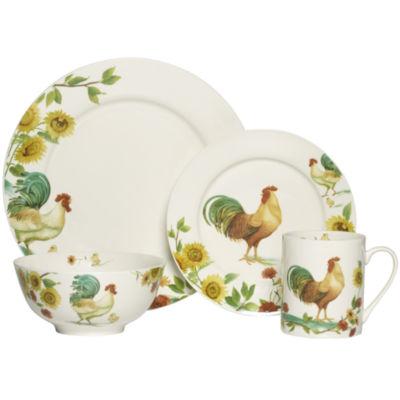 pfaltzgraff rooster meadow 16pc dinnerware set - Pfaltzgraff Patterns