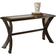 Roxie Glass Top Console Table
