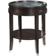 Langtry Round Glass Top End Table
