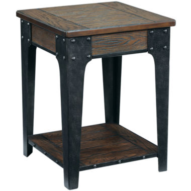 "jcpenney.com | Deerfield Distressed Oak 26"" Square End Table"