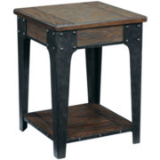 "Deerfield Distressed Oak 26"" Square End Table"