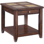Cargo Rectangular End Table