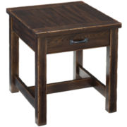 "Bronx Distressed 23"" Square End Table"