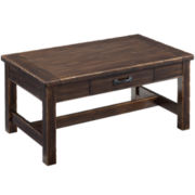 Bronx Single-Drawer Distressed Rectangular Coffee Table