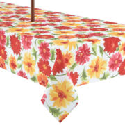 Summer Dahlia Umbrella Indoor/Outdoor Tablecloth