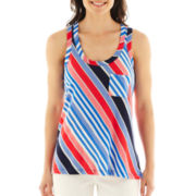 a.n.a® Racerback Pocket Tank Top - Petite