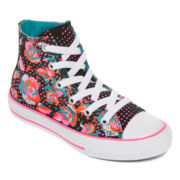 Converse Chuck Taylor All Star Floral Print Girls Sneakers - Little Kids