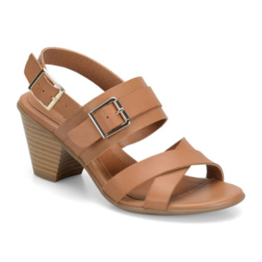jcpenney.com | Eurosoft™ Maria Leather Heeled Sandals