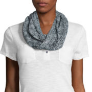 Studio 36 Floral Burnout Neck Scarf