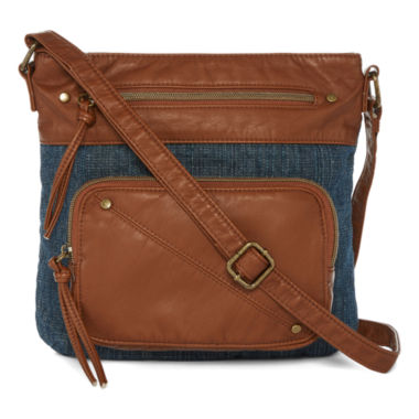 jcpenney.com | Arizona Single Pocket Denim Crossbody Bag