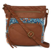 Arizona Single Pocket Floral Crossbody Bag