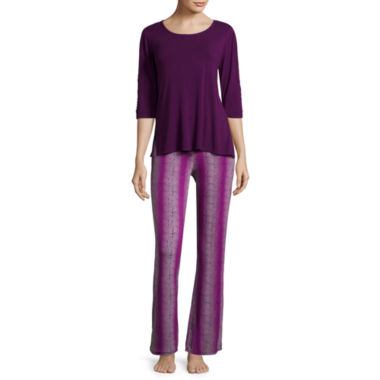 jcpenney.com | Ambrielle® 3/4-Sleeve Lace Pajama Set - Tall