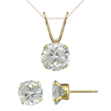 jcpenney.com | Girls Cubic Zirconia Pendant Necklace & Stud Earring Set