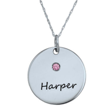 jcpenney.com |  Personalized Simulated Birthstone Round Name Pendant Necklace