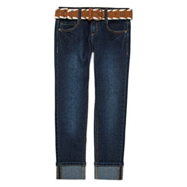 jcpenney.com | Arizona Belted Cuffed Ankle Pants - Girls 7-16