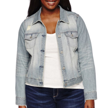 jcpenney.com | Arizona Destructed Denim Jacket - Juniors Plus