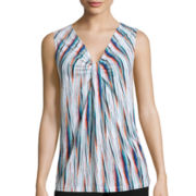 Worthington® Gather-Front Knit Tank Top - Petite